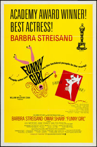 "Funny Girl (Columbia, 1968). One Sheet (27"" X 41"") Academy Award Style B. Musical"