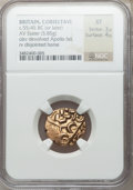 Ancients:Celtic, Ancients: BRITAIN. Corieltauvi. Ca. 55-45 BC. AV stater (5.85gm). ...