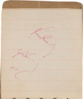 Autographs:U.S. Presidents, John F. Kennedy Autographed Notebook Twice Signed and Dated November 22, 1963.... (Total: 3 Items)