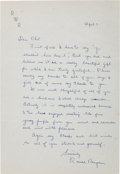 Autographs:U.S. Presidents, Ronald Reagan Autograph Letter Signed...