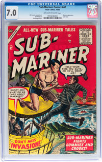 Sub-Mariner Comics #42 (Atlas, 1955) CGC FN/VF 7.0 Off-white to white pages