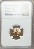 Ancients:Celtic, Ancients: BRITAIN. Durotriges. Ca. 65-45 BC. Pale AV stater (6.11gm)....