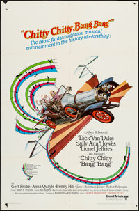 """Chitty Chitty Bang Bang (United Artists, 1969). One Sheet (27"""" X 41""""), Pressbook (8 Pages, 13"""" X 18""""..."""
