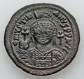 Ancients:Byzantine, Ancients: Justinian I the Great (AD 527-565). Æ follis (22.37gm). ...