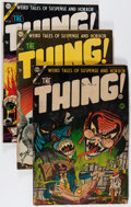Golden Age (1938-1955):Horror, The Thing! #13-15 Group (Charlton, 1954) Condition: Average GD....(Total: 3 Comic Books)