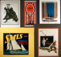 Books:Prints & Leaves, [Advertising, Illustration Art]. Group of Five Early Twentieth-Century Lithograph Prints. Various publishers and dates, Circ...