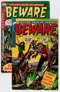Golden Age (1938-1955):Horror, Beware #8 and 11 Group (Trojan/Prime, 1954).... (Total: 2 ComicBooks)