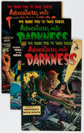 Golden Age (1938-1955):Horror, Adventures Into Darkness #12-14 Group (Standard, 1953-54)Condition: Average VG.... (Total: 3 Comic Books)