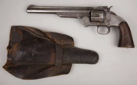 "SMITH & WESSON MODEL NO. 3 SECOND MODEL SINGLE ACTION REVOLVER. Serial number 10319, circa 1870s. 8"" barrel..."