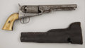 Western Expansion:Cowboy, FOREIGN COPY OF A PERCUSSION COLT REVOLVER - Circa 1850-60s. Noserial numbers or other marking present. This engraved spec...(Total: 2 Item)