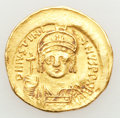 Ancients:Byzantine, Ancients: Justinian I the Great (AD 527-565). AV solidus (4.36gm)....