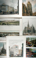 "Books:Prints & Leaves, Lot of Eight German and French Color Lithograph Illustrations.16.75"" x 12.75"". MGM Art Dept. property stamp in the top marg..."