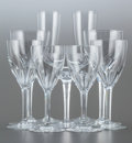 Art Glass, A SIXTY-EIGHT PIECE BACCARAT GLASS BEVERAGE STEMWARE SET. 20thcentury. Marks: BACCARAT, FRANCE. 9-1/4 inches high (23.5...(Total: 68 Items)