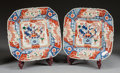 Asian:Japanese, A PAIR OF JAPANESE IMARI PORCELAIN SQUARE CHARGERS. 20th century.17 x 17 x 17 inches (43.2 x 43.2 x 43.2 cm). ... (Total: 2 Items)