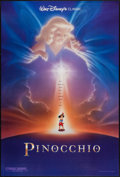 "Movie Posters:Animation, Pinocchio (Buena Vista, R-1992). One Sheet (27"" X 40"") DS Style B. Animation.. ..."