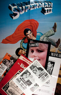 [Movie Posters]. Assortment of Press Books and Programs. Films featured include: Star 80, Superman III<