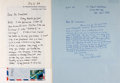 Autographs:Authors, Pair of Autograph Letters Signed by British Author Sir Victor Pritchett to Noted American Book Collector Rolland Comstock. V...