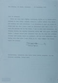"""Autographs:Authors, English Novelist Anthony Powell Typed Letter Signed """"Anthony Powell"""". One page, 8.5"""" x 12"""", Somerset, September 20, 1988..."""