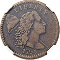 Large Cents, 1794 1C Head of 1794 VF30 NGC. NC-10, B-31, Unique. Our EAC GradeFine 12. ...