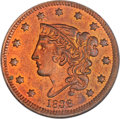 Proof Large Cents, 1838 1C PR64 Red PCGS. N-11, Low R.6 as a Proof. Our EAC GradePR65....