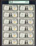 Small Size:World War II Emergency Notes, Fr. 2306 $1 1935A North Africa Silver Certificates. Uncut Sheet.PCGS Gem New 65PPQ.. ...