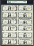 Small Size:World War II Emergency Notes, Fr. 2306 $1 1935A North Africa Silver Certificates. Uncut Sheet.PCGS Choice New 63PPQ.. ...