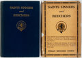 Books:Biography & Memoir, Lyman Beecher Stowe. SIGNED. Saints Sinners and Beechers.Two (2) Copies, One SIGNED by the author. Indianapolis... (Total: 2Items)
