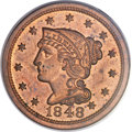 Proof Large Cents, 1848 1C PR64 Red and Brown PCGS. N-19, Low R.6....