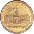 Betts Medals, Betts-447. 1763 Messenger of Peace, Treaty of Hubertusburg. Gold.AU58 NGC....