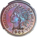 Proof Indian Cents, 1905 1C PR67 Brown NGC....