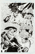 Original Comic Art:Splash Pages, Jan Duursema and Scott Koblish X-Men 2099 #33 Splash Page 3Original Art (Marvel, 1994)....