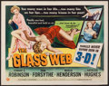 "Movie Posters:Crime, The Glass Web (Universal International, 1953). Half Sheet (22"" X 28"") 3-D Style B. Crime.. ..."