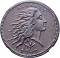 Large Cents, 1793 1C Wreath, Vine and Bars -- Environmental Damage -- NGCDetails. XF. S-10, B-10, R.4. Our EAC Grade VF20....