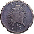 Large Cents, 1793 1C Wreath, Lettered Edge -- Whizzed -- NGC Details. VF. S-11b,B-16b, R.4. Our EAC Grade VG7....
