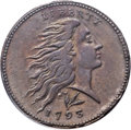 Large Cents, 1793 1C Wreath, Vine and Bars XF45 PCGS. S-11a, B-16a, High R.4.Our EAC Grade VF30. ...