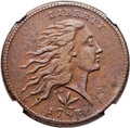 Large Cents, 1793 1C Wreath, Vine and Bars XF45 NGC. S-8, B-13, R.3. Our EACGrade VF30....