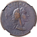 Large Cents, 1793 1C Liberty Cap -- Tooled -- NGC Details. VF. S-14, B-17, LowR.5. Our EAC Grade VG7. ...