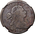 Large Cents, 1796 1C Draped Bust, Reverse of 1797 -- Environmental Damage -- NGCDetails. VF. S-100, B-24, R.5. Our EAC Grade VG8. ...