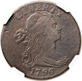 Large Cents, 1796 1C Reverse of 1794, S-106, B-14, High R.4, VG10 NGC....