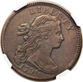 Large Cents, 1796 1C Draped Bust, Reverse of 1797 VF35 NGC. S-114, B-42, LowR.5. Our EAC Grade VF20. ...