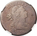 Large Cents, 1796 1C Draped Bust, Reverse of 1797 Fine 12 NGC. NC-1, B-29, R.6.Our EAC Grade VG8. ...