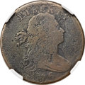 Large Cents, 1796 1C Draped Bust, Reverse of 1795 AG3 NGC. NC-4, B-23, High R.5.Our EAC Grade AG3. ...