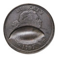 Large Cents, 1797 1C Reverse of 1797, Stems -- Double Struck Reverse and PartialBrockage Obverse -- Fine 12 PCGS. S-140, B-22, R.1. Our E...