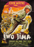 """Movie Posters:War, Sands of Iwo Jima (Les Films Fernand Rivers, R-1960s). FrenchGrande (45.5"""" X 63""""). War.. ..."""