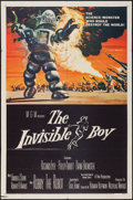 "Movie Posters:Science Fiction, The Invisible Boy (MGM, 1957). One Sheet (27"" X 41"") & LobbyCards (3) (11"" X 14""). Science Fiction.. ... (Total: 4 Items)"