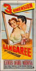"Movie Posters:Adventure, Sangaree (Paramount, 1953). Three Sheet (41"" X 80"") 3-D Style.Adventure.. ..."