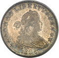 Early Half Dollars, 1806 50C Pointed 6, Stem XF40 NGC. CAC. O-115, R.1....