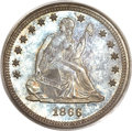 Proof Seated Quarters, 1866 25C Motto PR65 PCGS. CAC....