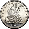 Patterns, 1862 50C Half Dollar, Judd-293, Pollock-351, R.5 -- Stained -- PCGS Proof Genuine. Unc Details....