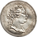 Betts Medals, Betts-552 variant. 1772 Captain James Cook. White Metal, shells.XF.... (Total: 2 medals)